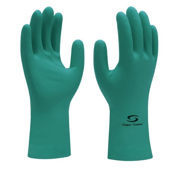 b12395a6de88f Luva Super Safety latex Nitrílico Palma antiderrapante - Super Green ...